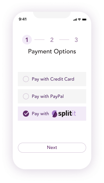 Shop with Splitit at your favorite stores — pay later on your terms
